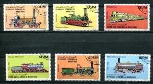 Mauritania 2002 Trains Locomotives Set 6 values Perforated Fine Used VF