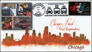 18-378, 2018, First Responders, Pictorial Postmark, Event Cover, Chicago IL