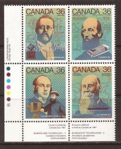 1987 Canada - Sc 1138a - MNH VF - PB LL - Science & Technology - 2