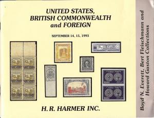 HR Harmer: Sale # 2890  -  United States, British Commonw...