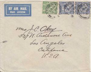 Great Britain 1/2d and 2 1/2d (2) KGV Photogravure 1934 London, W.1 36 Airmai...