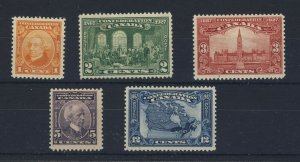 5x Canada Stamps #141 to 145 1x MNH 4x MH  Guide Value = $54.00