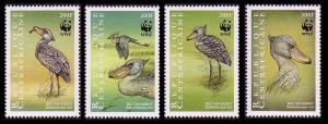 Central African Rep. Birds WWF Shoebill 4v MI#2211-2214 SC#1239 a-d