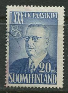 Finland - Scott 300 - Pres. Juho K. Passikivi -1950- Used - Single 20m stamp