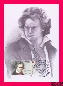 KYRGYZSTAN 2020 Famous People Germany Music Composer Beethoven Maxicard Card