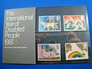 GREAT BRITAIN 1981 - SCOTT #937//959  LOT OF 4 PRESENTATION PACKS   MNH