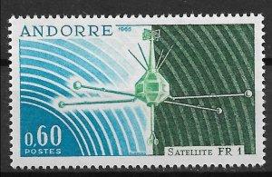 1966 French Andorra 171 FR-! Satellite MNH