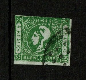 Argentina Buenos Aires SC# 9, Used, small side margin tear - S9592