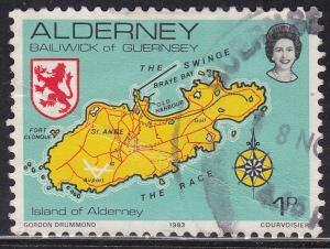 Alderney 1 Map of the Island 1983