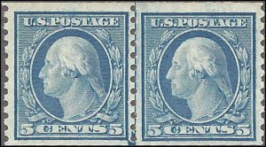 496 Mint,OG,NH... Line Pair... SCV $65.00