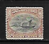 NORTH BORNEO, 85, MINT HINGED,SAIL SHIP