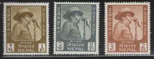 Nepal  Scott 173-175 MH* set