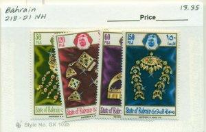 BAHRAIN #218-21, Mint Never Hinged, Scott $13.35