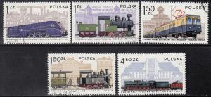 Poland, Sc # 2252-2256, CTO-NH, 1978, Locomotive