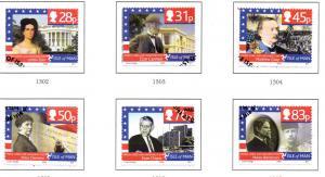 Isle of Man Sc 1151-6 2006 Washington Links stamp set used