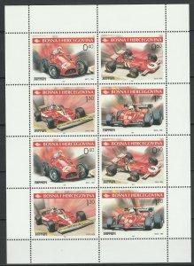 Bosnia and Herzegovina 2001 Formula 1, Ferrari MNH sheet