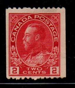 Canada Sc 132 1915 2 c carmine G V Admiral coil stamp mint NH
