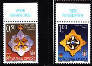 Bosnia and Herzegovina Serb Admin MNH Scott #206-#207 Set of 2 Medals/Orders