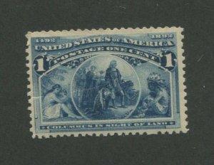 1893 United States Postage Stamp #230 Mint Never Hinged Creased Original Gum