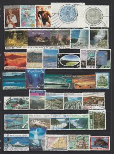 New Zealand A Small Collection Of Used Decimal High Values