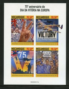 MOZAMBIQUE 2020 75th ANNIVERSARY OF VE DAY IMPERF  SHEET MINT NH