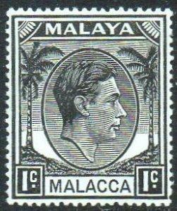 Malacca 1949 1c black MH