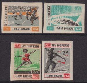 1963 Albania Olympics Games complete imperf set MVLH Sc# 706 / 709 CV $75.00