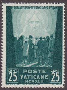 Vatican City 77 MNG 1942 Christ Over The Mass