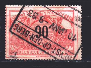 Belgium. 1902. 27. Railway mail. USED.