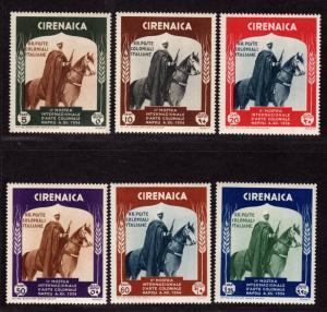 $Cyrenaica Sc#59-64 M/H-NH, complete set, #62 hinged, Cv. $60