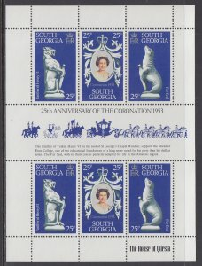South Georgia 51 Souvenir Sheet MNH VF