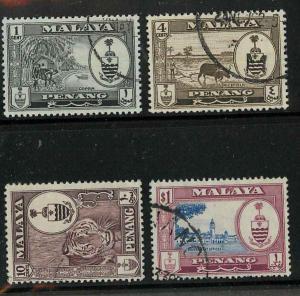 Malaya Penang 56,58,61,64 Used F-VF