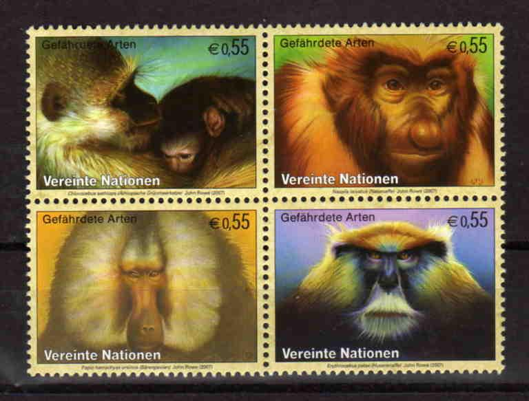 United Nations Vienna - endangered species, MNH, Mi 485-488