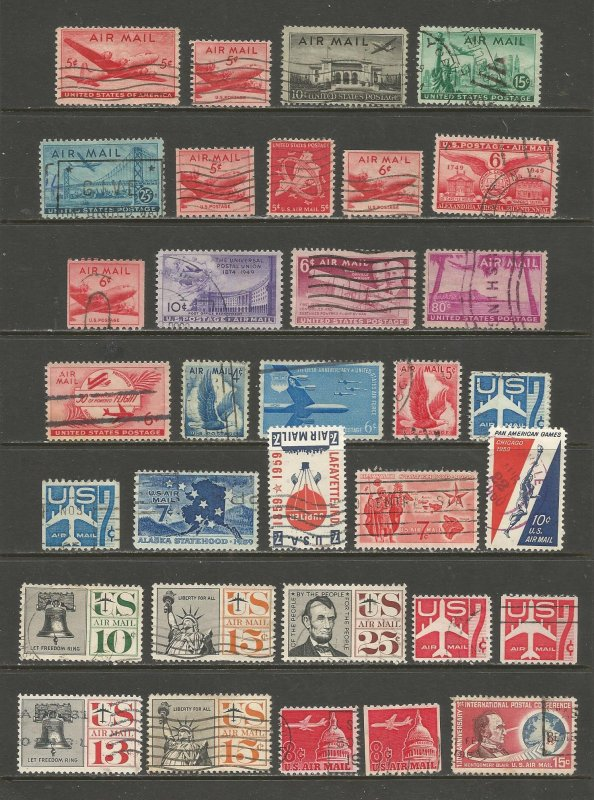 US Postage Stamps Used (33 stamps)