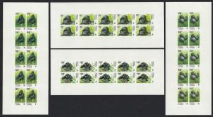 DR Congo WWF Grauer's Gorilla 4 Full sheets IMPERF RARR MI#1708-1711