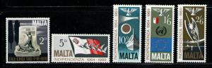 MALTA 1969 MNH SC.404/408 Anniv.Independence