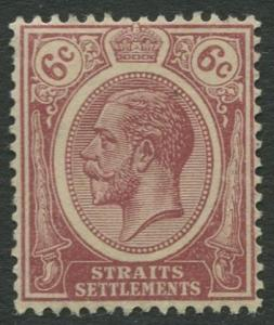 Straits Settlements - Scott 156 - KGV Definitive - 1912 - MNG - 6c Stamp