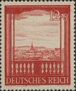 Stamp Germany Mi 804 Sc B198 1941 WWII Fascism Austriai Vienna Fair Belvedere