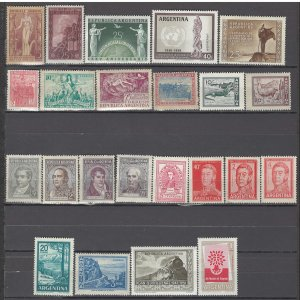 COLLECTION LOT OF # 913 ARGENTINA 23 MH STAMPS 1930+