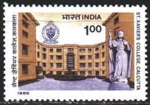 India. 1985. 1020. College of St. Javier in Calcutta. MNH.