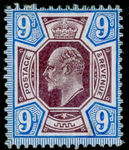 SG251a SPEC M40(3), 9d slate-purple & ultramarine (CHALKY), M MINT. Cat £90.