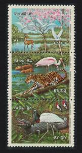 Brazil Birds Flamingos Malto Grosso Flood Plain 3v SG#2083-2085 MI#2041-2043