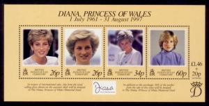 British Indian Ocean Territory Sc# 197 MNH Princess Diana Memorial (S/S)