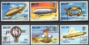 BELIZE 672-7 USED CTO SCV $32.25 BIN $12.90 AIR TRAVEL