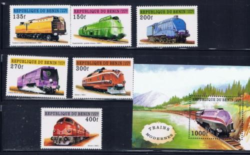 Benin 959-65 NH 1997 Trains