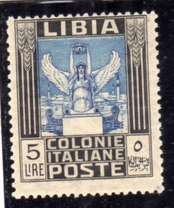 LIBIA 1921 PITTORICA LIRE 5 MLH