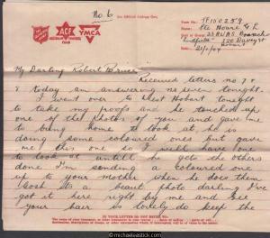 Grace & Robert - Letter #15 - 1944 (Jan) - Four Pages