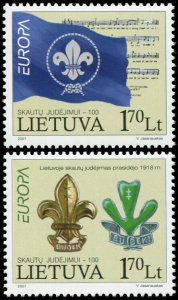 Lithuania. 2007. Europa - 100th Anniv. of the Scouting Movement (MNH OG) Set
