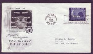 United Nations FDC Sc. #  112 Space   L12
