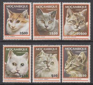 Mozambique 618-623 Cats MNH VF